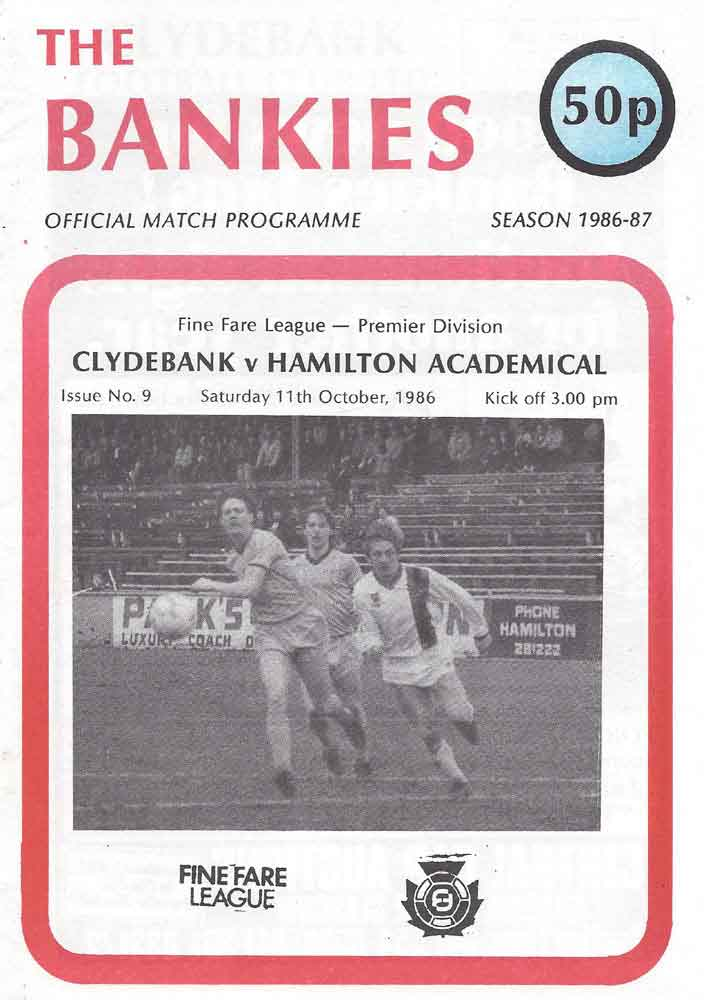 Hamilton Academical HOME programmes 1970s 1980s 1990s 2000s League /& Cup